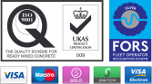 UKAS, ISO9001, FORS Silver Accreditations